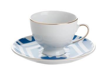 Porland Morocco Tabaklı Kahve Fincanı Desen2 Mavi 80cc Renkli